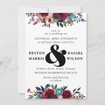 Wedding Floral Stylish Watercolor Invitation
