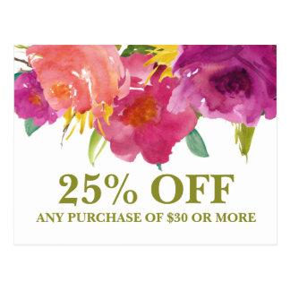 Wedding Florist Floral Marketing Promotional Card