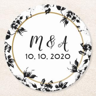 Wedding flower Design table decoration Round Paper Coaster