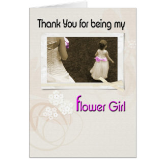 Wedding Flower Girl Invite and Thank You Card