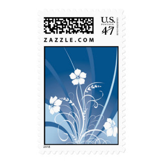 Wedding Flower Stamps - Blue Abstract Floral