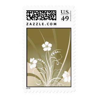 Wedding Flower Stamps - Gold Abstract Floral