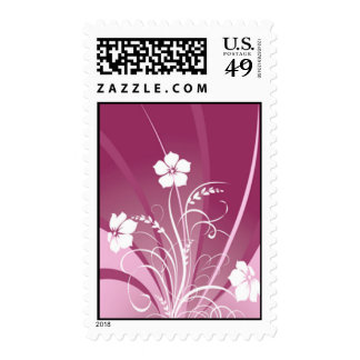 Wedding Flower Stamps - Raspberry Abstract Floral