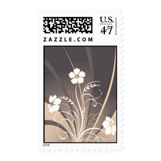Wedding Flower Stamps - Sepia Abstract Floral