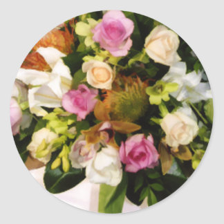 Wedding Flowers Envelope Seal Stickers
