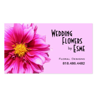 Wedding Flowers Floral Design Florist Dahlia pink Double-Sided Standard Business Cards (Pack Of 100)
