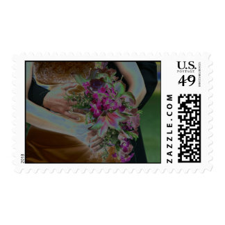 Wedding Flowers Hands Solarized Stamps