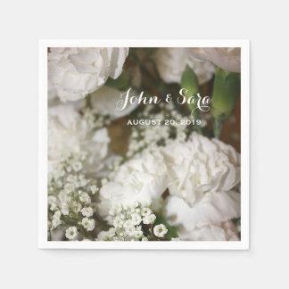 Wedding Flowers Photo, Personalized Wedding Paper Napkin