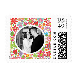Wedding Flowers Photo Postage USPS Stamp