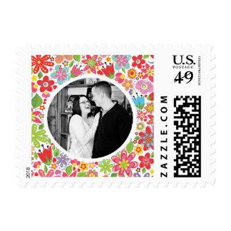 Wedding Flowers Photo Postage USPS Stamp
