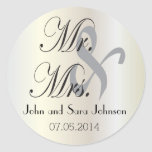 Wedding for the Mr & Mrs | Personalize Round Stickers