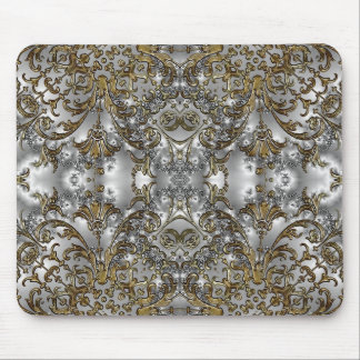 Wedding Fractal Design Gold - Silver Mouse Pad