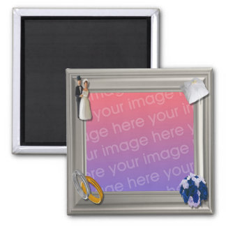 Wedding Frame 2 Inch Square Magnet