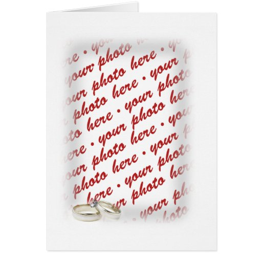 Wedding Frame with Rings Greeting Cards