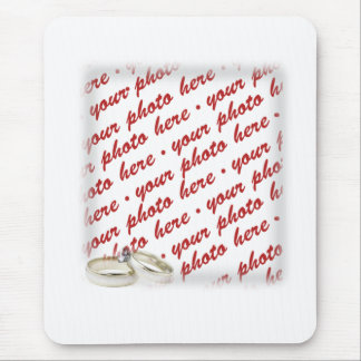 Wedding Frame with Rings Mouse Pad