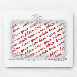 Wedding Frame with Rings & Ribbons Mouse Pad