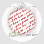 Wedding Frame with Rings & Ribbons Stickers
