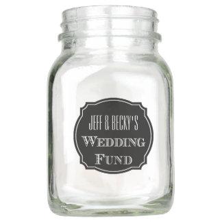 Wedding Fund Savings Mason Jar