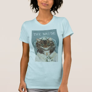 Wedding, funny CAT bride T-Shirt