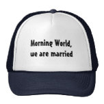 Wedding funny marriage trucker hat