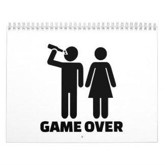 Wedding game over wall calendar