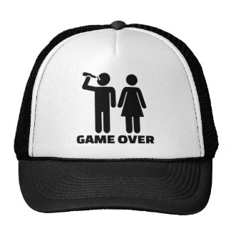 Wedding game over hat