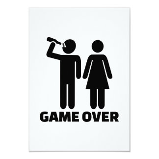 Wedding game over personalized invitation