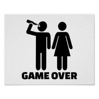 Wedding game over poster