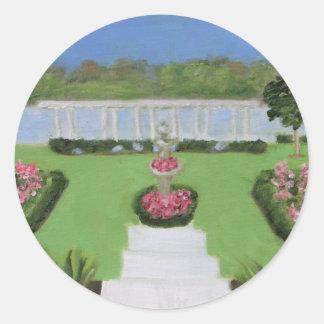 Wedding Garden Classic Round Sticker
