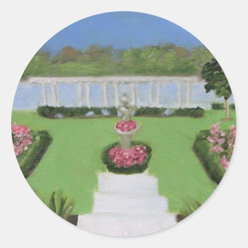 Wedding Garden Round Stickers