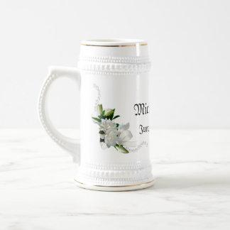Wedding Gardenias Beer Stein
