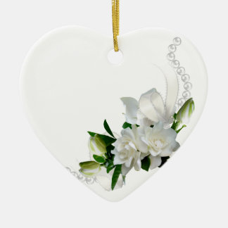Wedding Gardenias Ceramic Ornament