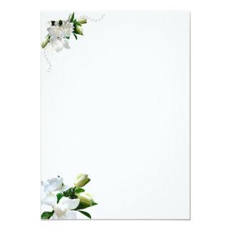 Wedding Gardenias 5x7 Paper Invitation Card