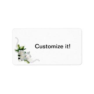 Wedding Gardenias Personalized Address Labels