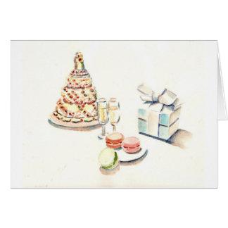 Wedding Gateaux Greeting Card
