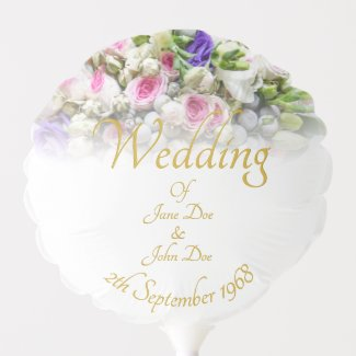Wedding Gift - Bride with colorful wedding bouquet Balloon