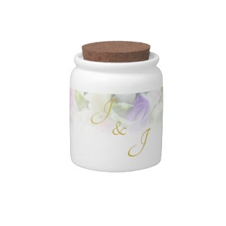 Wedding Gift - Bride with colorful wedding bouquet Candy Jar