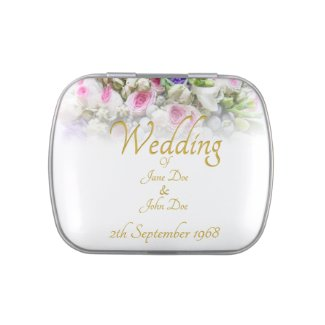 Wedding Gift - Bride with colorful wedding bouquet Candy Tin