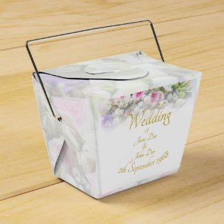 Wedding Gift - Bride with colorful wedding bouquet Favor Box