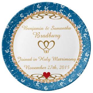 Wedding Gift Commemorative Porcelain Plate