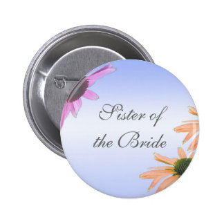 wedding gift, daisy flowers, pinback button