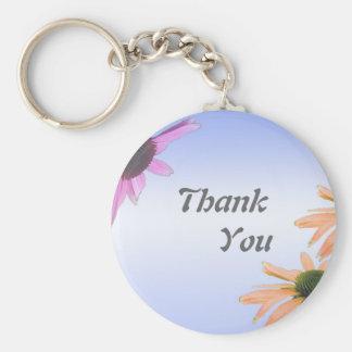 wedding gift, daisy flowers, thank you, etc. key chains