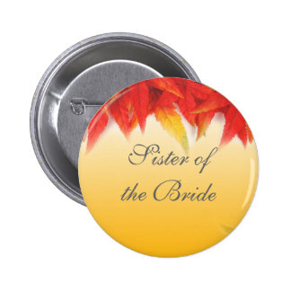 wedding gift, fall read leaves button