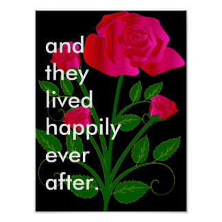 wedding gift housewarming gift happily ever after poster