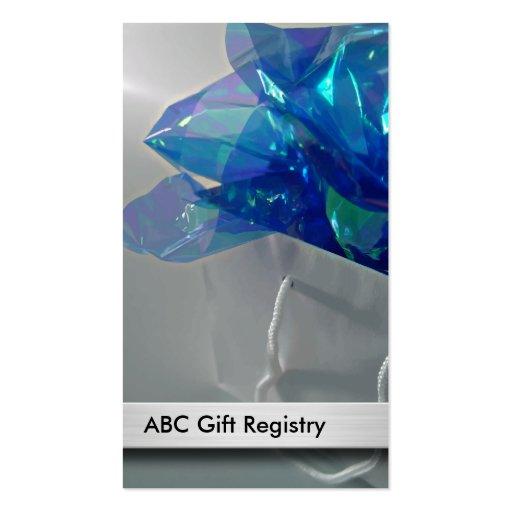 Wedding gift registry business cards zazzle for Gift cards for wedding registry