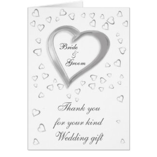 Wedding Gift Thank You card