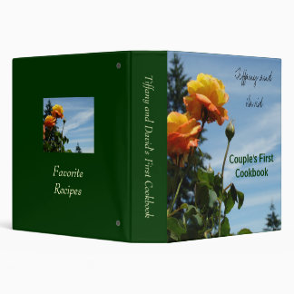 Wedding Gifts Couple's First Binders Recipes Rose