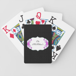 Wedding-Gift's_Spring -Retro-Black-Template*_Name Bicycle Playing Cards