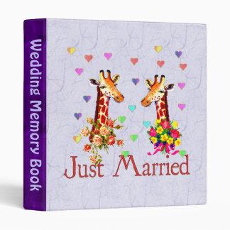 Wedding Giraffes 3 Ring Binder