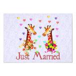 "Wedding Giraffes 5"" X 7"" Invitation Card"